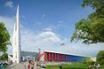 Centrum Edukacji i Sporu w Mysiadle. Nowoczesna architektura założenia jest przyjazna zarówno dzieciom, jak i dorosłym