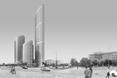 Dominanta grupowa budynków wysokościowych: od prawej Kalejdoscope, po lewej wieżowce Sienna Center; widok od Ronda Daszyńskiego